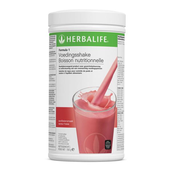 Herbalife Formula 1 voedingsshake aadbeien - 550 gram