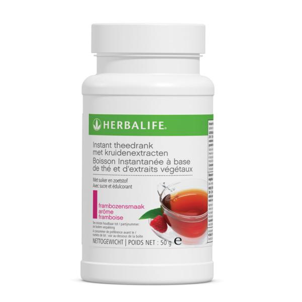 Herbalife instant theedrank met kruidenextracten frambozen smaak - 50 gram