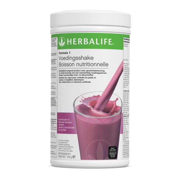 Herbalife formula 1 voedingsshake frambozen & blauwe bessen smaak - 550 gram