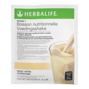 Herbalife Formula 1 voedingsshake vanille smaak per portie - 7 stuks per verpakking á 26 gram