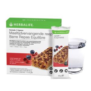 Herbalife Formula 1 Maaltijdvervangende reep rode bessen en yoghurt smaak - 7 repen