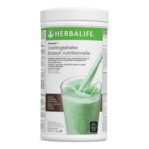 Herbalife Formula 1 voedingsshake crunchy chocolade munt smaak - 550 gram