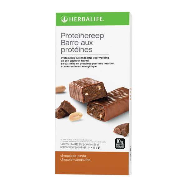 Herbalife Proteïnereep chocolade-pinda - 14 repen