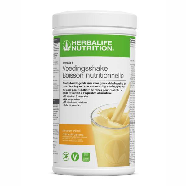 Herbalife shake banenen smaak | www.123herbashoppen.nl