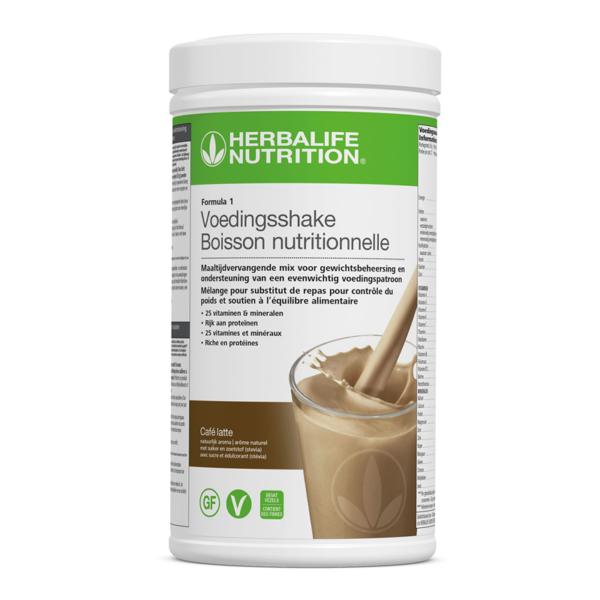 Herbalife shake café latte smaak | www.123herbashoppen.nl